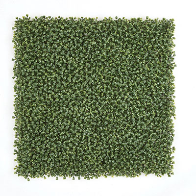 Polyblend UV Foliage  20 INCH X 20 INCH X 1 INCH POLYBLEND BOXWOOD MAT   REGULAR OR FIRE RETARDANT