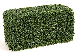 12 Inch x 24 Inch x 12 Inch Polyblend Outdoor Boxwood Hedge