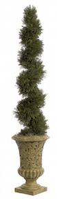 5 Foot Spiral Cypress Topiary | Artificial Topiary