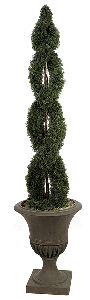 Artificial Topiary Trees, Outdoor Topiary, 6 feet   Double Spiral Cypress Topiary
