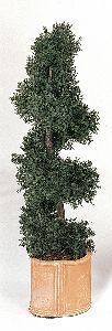 Artificial Topiary Trees, Outdoor Topiary, 4 feet   Juniper Spiral Topiary