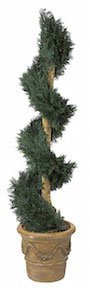 6 Foot Juniper Spiral Topiary