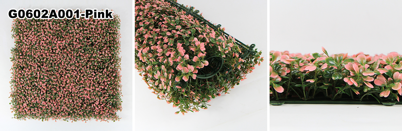 Artificial Hedge A001 Pink