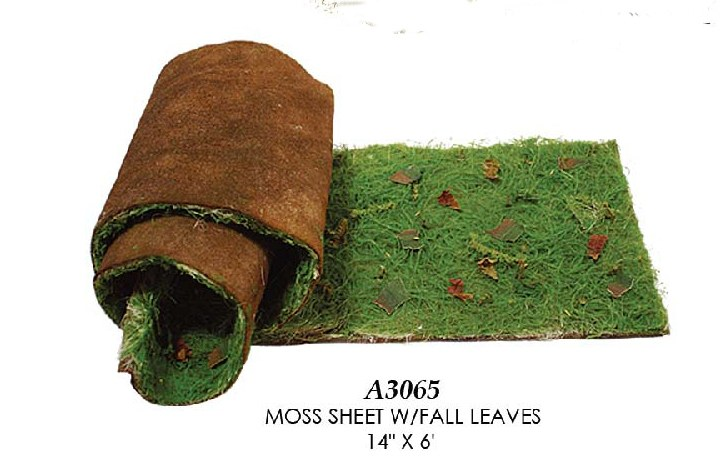 Artificial Topiary Trees, Topiary Wall, Moss Sheet with Fall Leaves