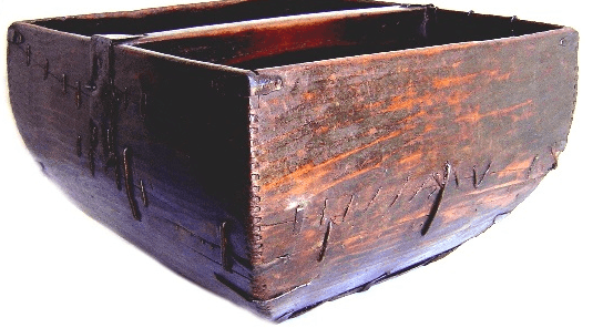 Antique Rustic Wooden Rice Buckets