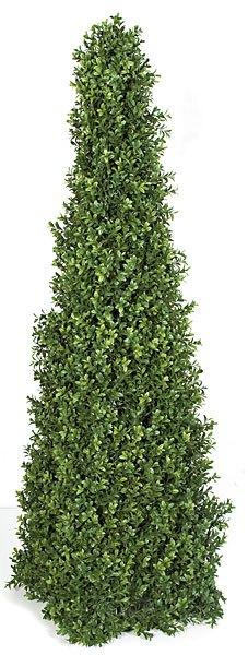 52 Inch  Plastic Boxwood Pyramid - Limited UV Protection