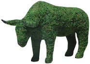 Bull w and Moss Med, (Frame) 12 inch  x 18 inch