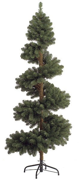 Artificial Topiary Trees, Outdoor Topiary, 7 feet   Spiral Spruce Topiary and No Lights
