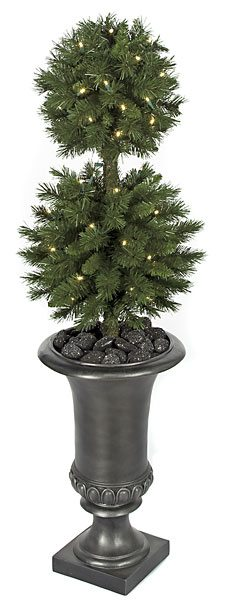Artificial Topiary Trees Outdoor Topiary 41 Inch Double