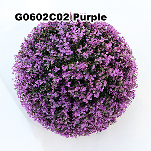 Artificial Topiary Ball C002 Purple