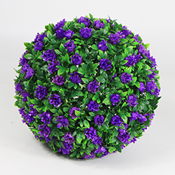 Artificial Topiary Ball C026 Light Purple