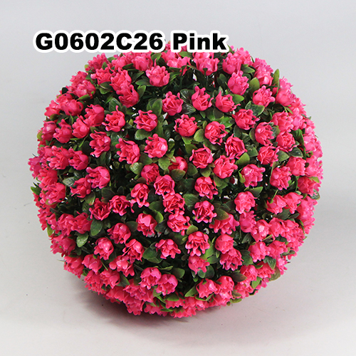 Artificial Topiary Ball C026 Pink