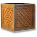 Lattice Box Fiberglass Planter