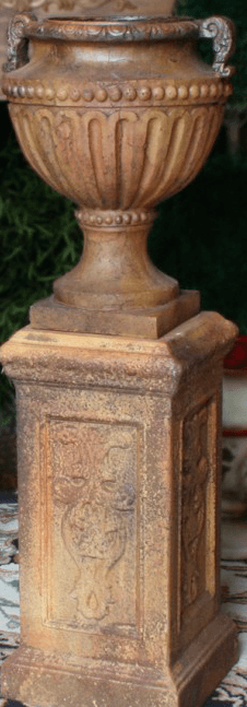 Fluted and Beaded Urn
