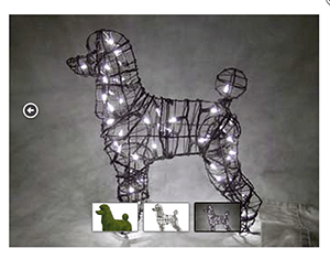 Poodle, 17 inch  (Lit) 17 inch  x 18 inch  x 9 inch