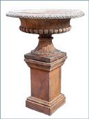 OPD05T, Shop for a Terracotta Georgian Pedestal | TopiaryTree and NET
