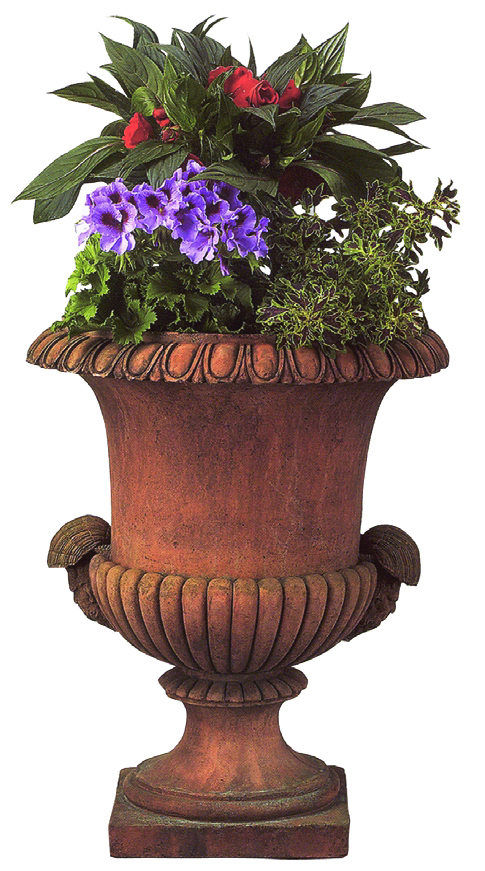OPT160T, Shop for a Georgian Urn Terracotta Planter | TopiaryTree.NET