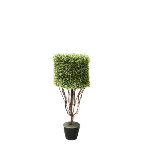 Artificial Topiary Trees, Ball Topiary, P1220 4  Feet Round Shape Myrtle in Tin Pot