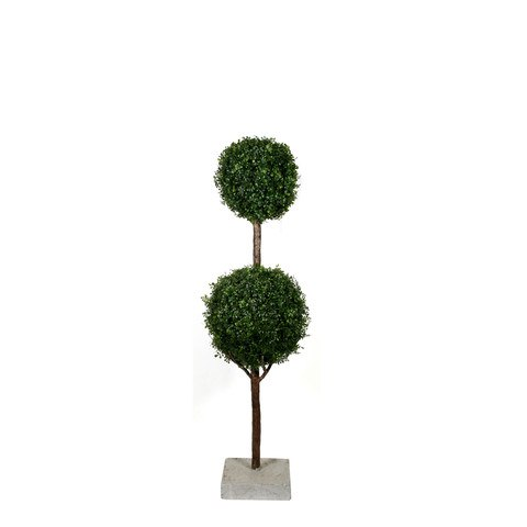 Artificial Topiary Trees, Ball Topiary, P1225DB 5 Feet Double Ball Boxwood Topiary