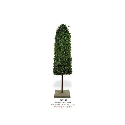 Artificial Topiary Trees, Hedge Topiary, P1225T Boxwood Tower Topiary