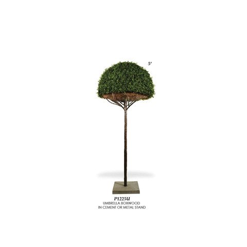 Artificial Topiary Trees, Ball Topiary, P1225U Umbrella Boxwood Ball Topiary