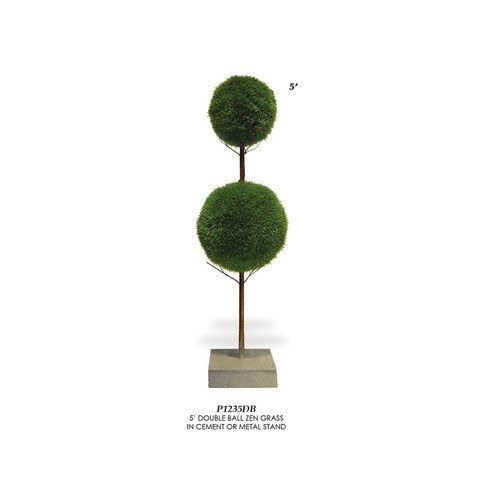 Artificial Topiary Trees, Ball Topiary, P1235DB Double Ball Zen Grass Topiary