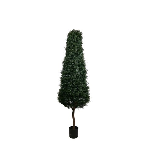 Artificial Topiary Trees, Spiral Topiary, PP4031 7  Feet Boxwood Tower Tree