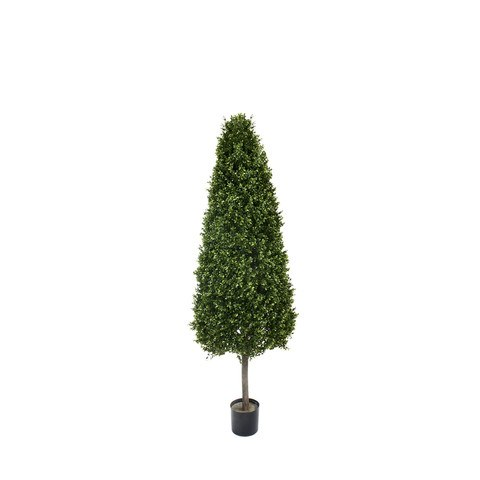Artificial Topiary Trees, Spiral Topiary, PP4036C 5  Feet PTD Cone Shape Boxwood Tower