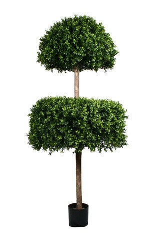 Artificial Topiary Trees, Spiral Topiary, PP4036DL 6  Feet PTD Double Layer Boxwood Tree