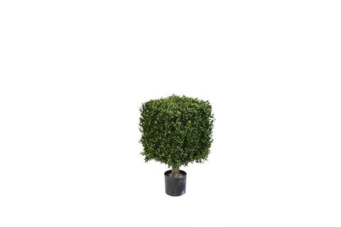 Artificial Topiary Trees, Ball Topiary, PP4036Q 21 Boxwood Cube Tree