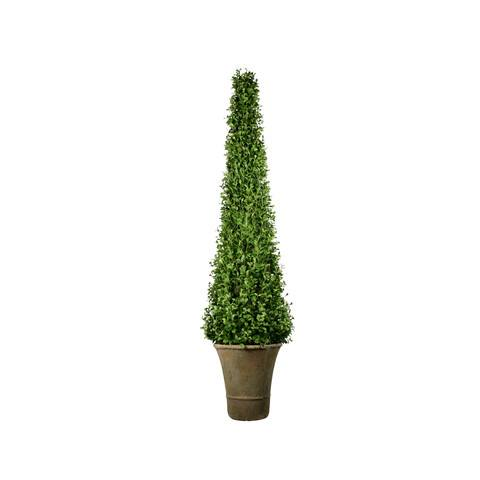 artificial topiary trees spiral topiary ptp1229c 6 feet cone shape boxwood in paper mache pot