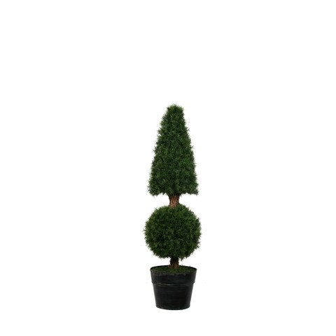 artificial topiary trees spiral topiary ptpp4011cb 42 35 feet cone ball fir in tin pot