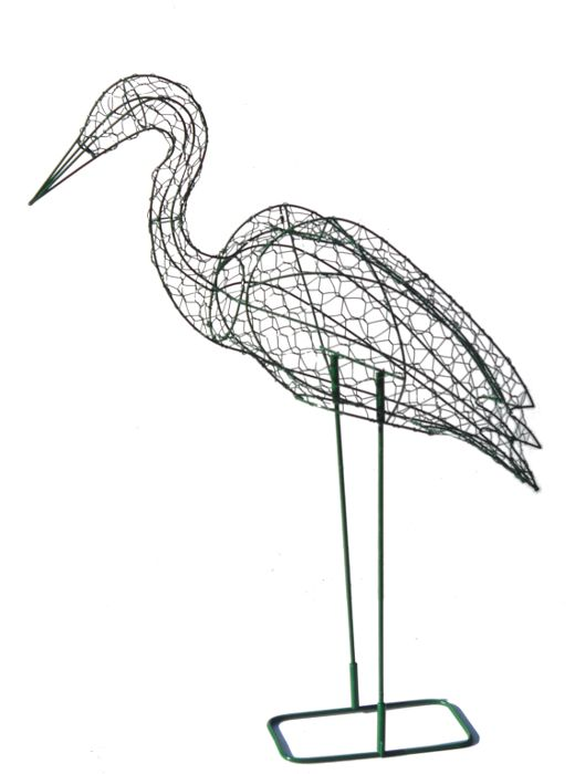 Stork Bird Frame Topiary 36 inches tall