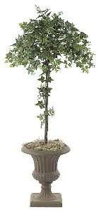 Artificial Topiary Trees, Ball Topiary, 4 feet   Sage Ivy Topiary