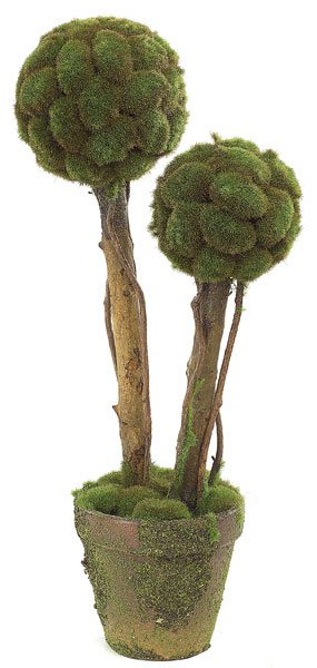 artificial topiary trees, ball topiary, 21 inch double ball moss topiary Artificial Topiary Trees