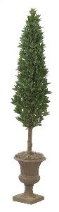 Artificial Topiary Trees, Ball Topiary, 7 feet   Laurel Cone Topiary