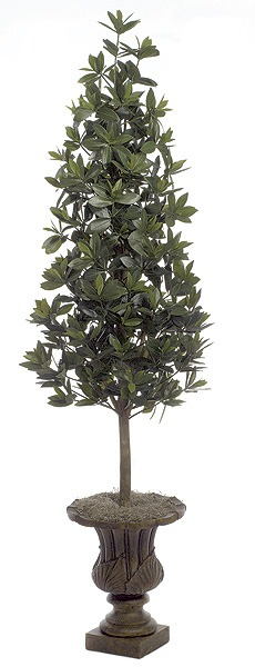 Artificial Topiary Trees, Cone Topiary, 5 and 5 feet   Azalea Leaf Topiary
