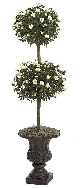 4 Foot Mini Rose Double Ball Topiary