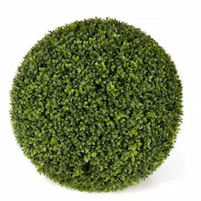 20 Inch Outdoor Boxwood Ball   Traditional Green