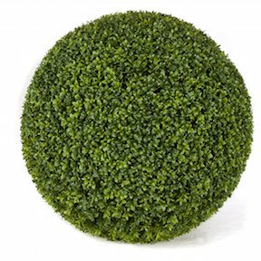 24 Inch Outdoor Boxwood Ball   Tutone Green