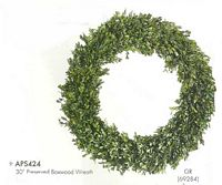 30 inch Preserved Boxwood Wreath Green
