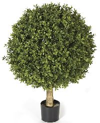 Artificial Topiary Trees, Outdoor Topiary, 24 inch Plastic Boxwood Ball Topiary and Limited UV Protection