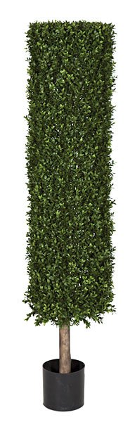 Artificial Topiary Trees, Outdoor Topiary, 4.5 feet   Plastic Boxwood Cylinder Topiary and Limited UV Protection
