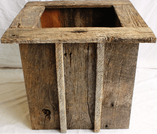 16 inch   Barnwood Planters Container