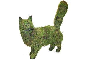Cat Walking, 18 inch   (Mossed) 18 inch  x 17 inch  x 6 inch