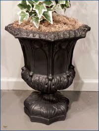 OPT105BLK, Shop for Black Gothic Terracotta Pot | TopiaryTree.NET