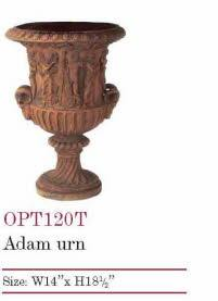 OPT120T, Shop for Adam Terracotta Urn | TopiaryTree.NET