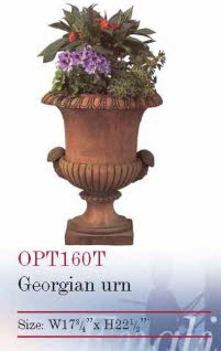 OPT160T, Shop for a Georgian Urn Terracotta Planter | TopiaryTree and NET