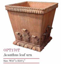 OPT170T, Shop for a Acanthus Leaf Urn Terracotta Pot | TopiaryTree and NET