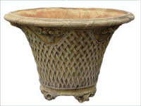 OST06TC, Shop for Large Basket Weave Terracotta Urn | TopiaryTree and NET